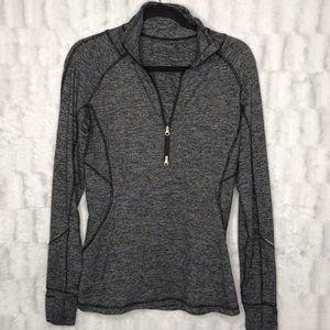 Lululemon heather gray half zip